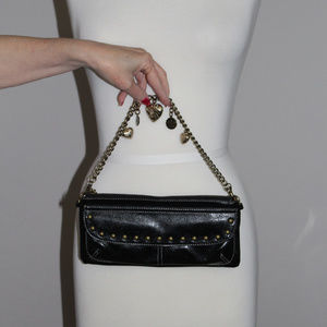 Kathy Van Zeeland Black LeatherWristlet Bag (NWOT)